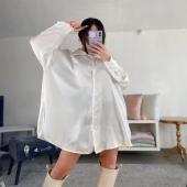 Camicione bianco per ricreare mille outfit diversi 🤍✨  🔍Camicione in satin 18€ . . .  🚛Spedizione a soli 3,50€ in tutta Italia  💸Pagamento alla consegna, PayPal, Bonifico. 🏡Ritiro in negozio gratuito.