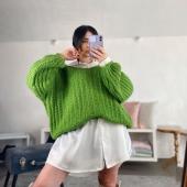 Non potete capire quanto cavolo è morbido 🤤💚  🔍Maglione Fluffy -verde 22€