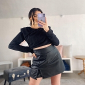 Macciaoo✨🖤  🔍Shorts/Gonna in ecopelle -black 20€  Tg. S/M/L